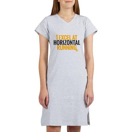 horizontal running Women's Nightshirt