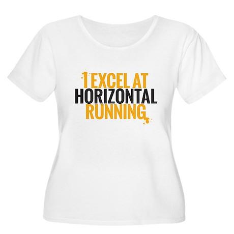 horizontal running Plus Size T-Shirt