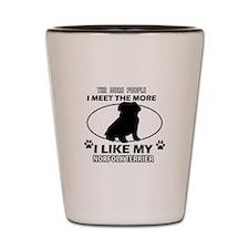 Norfolk Terrier lover designs Shot Glass
