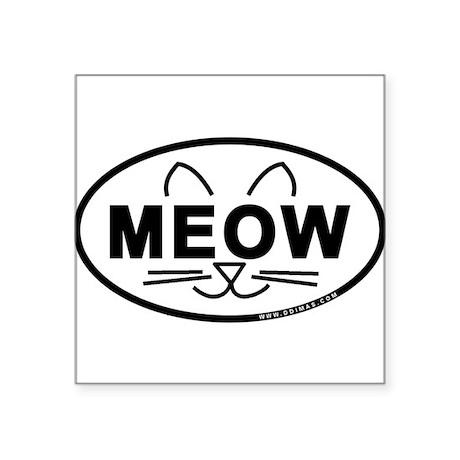 Meow Oval Sticker