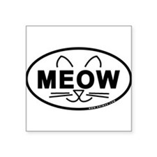 Meow Oval Sticker