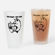 Custom Razorback Mascot Drinking Glass