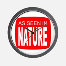 As Seen in Nature Wall Clock