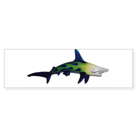 Flamed Hammer head shark sticker (Bumper