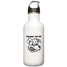 Custom Mean Dog Mascot Water Bottle