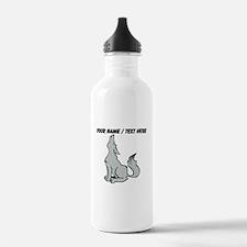 Custom Howling Wolf Water Bottle