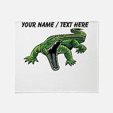 Custom Angry Alligator Throw Blanket