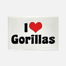 I Love Gorillas Rectangle Magnet (10 pack)