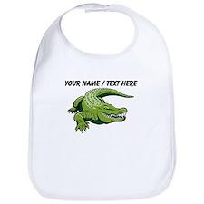 Custom Green Alligator Cartoon Bib