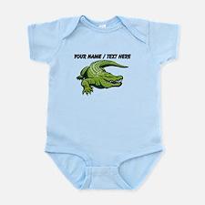 Custom Green Alligator Cartoon Body Suit