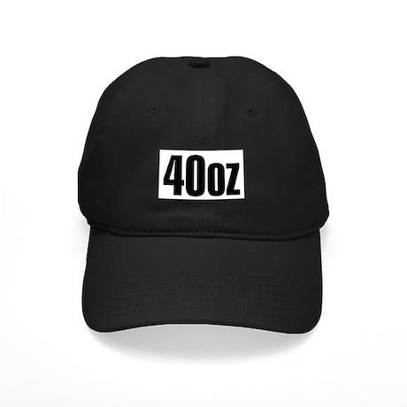 40oz Black Cap