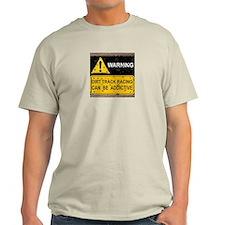 Dirt Track Racing Addictive Ash Grey T-Shirt