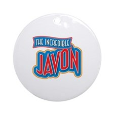 The Incredible Javon Ornament (Round)