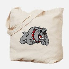 grey bulldog Tote Bag