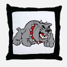 grey bulldog Throw Pillow