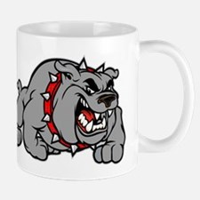 grey bulldog Mug
