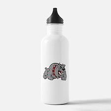 grey bulldog Water Bottle