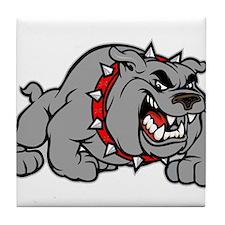 grey bulldog Tile Coaster