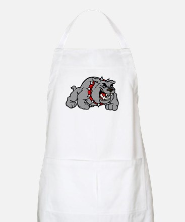 grey bulldog Apron
