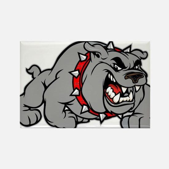 grey bulldog Rectangle Magnet