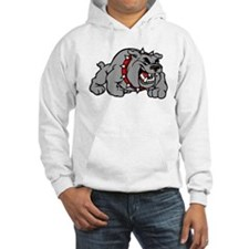 grey bulldog Hoodie