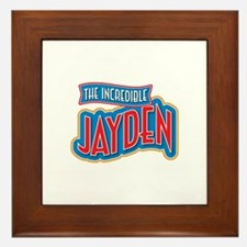 The Incredible Jayden Framed Tile