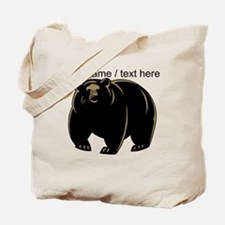 Custom Black Bear Tote Bag