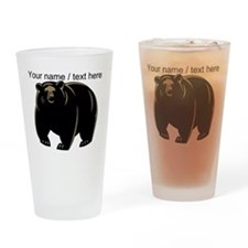 Custom Black Bear Drinking Glass