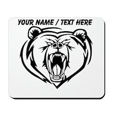 Custom Angry Bear Face Mousepad