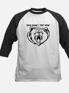 Custom Angry Bear Face Baseball Jersey