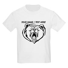 Custom Angry Bear Face T-Shirt