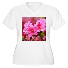 Pink azaleas Plus Size T-Shirt