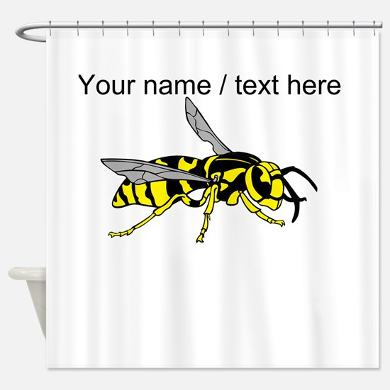 Custom Yellow Jacket Shower Curtain