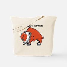 Custom Orange Buffalo Tote Bag