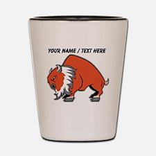 Custom Orange Buffalo Shot Glass