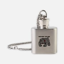 Custom Angry Bulldog Flask Necklace