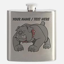 Custom Angry Bulldog Flask