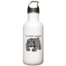 Custom Angry Bulldog Water Bottle