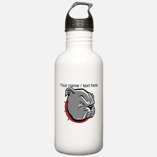 Custom Bulldog Puppy Water Bottle