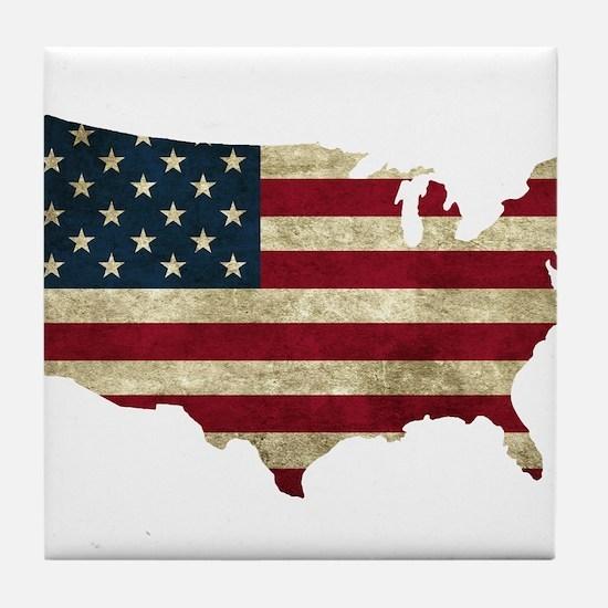 Vintage USA Tile Coaster