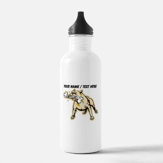 Custom Mean Bulldog Water Bottle