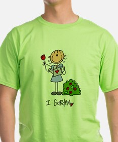 I Garden Stick Figure T-Shirt
