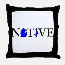 Native Michigander Throw Pillow