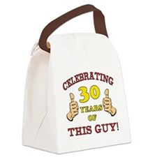 30th Birthday Gift For Him Canvas Lunch Bag