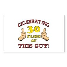 30th Birthday Gift For Him Decal