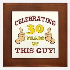 30th Birthday Gift For Him Framed Tile