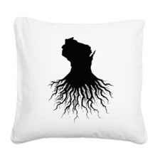 Wisconsin Roots Square Canvas Pillow