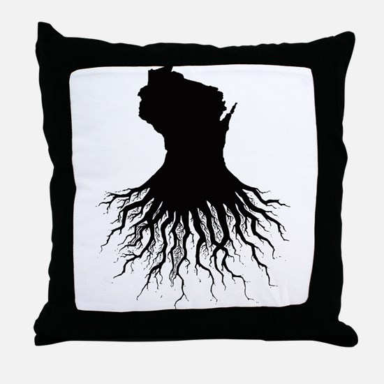 Wisconsin Roots Throw Pillow