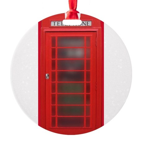 British Phone Booth Ornament