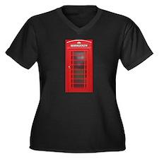 British Phone Booth Plus Size T-Shirt